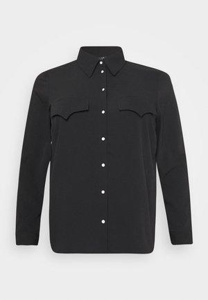 VMLOLENA CURVE - Button-down blouse - black