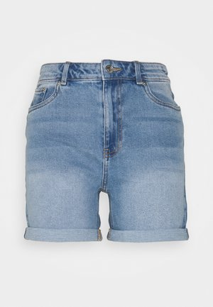 VMJOANA MOM - Denim shorts - light blue denim