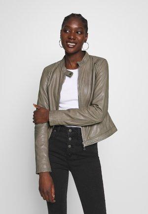 NEW CAROL - Leather jacket - sand