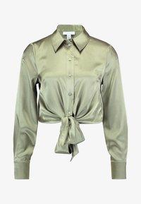 Topshop - TIE FRONT SHIRT - Overhemdblouse - olive - 4