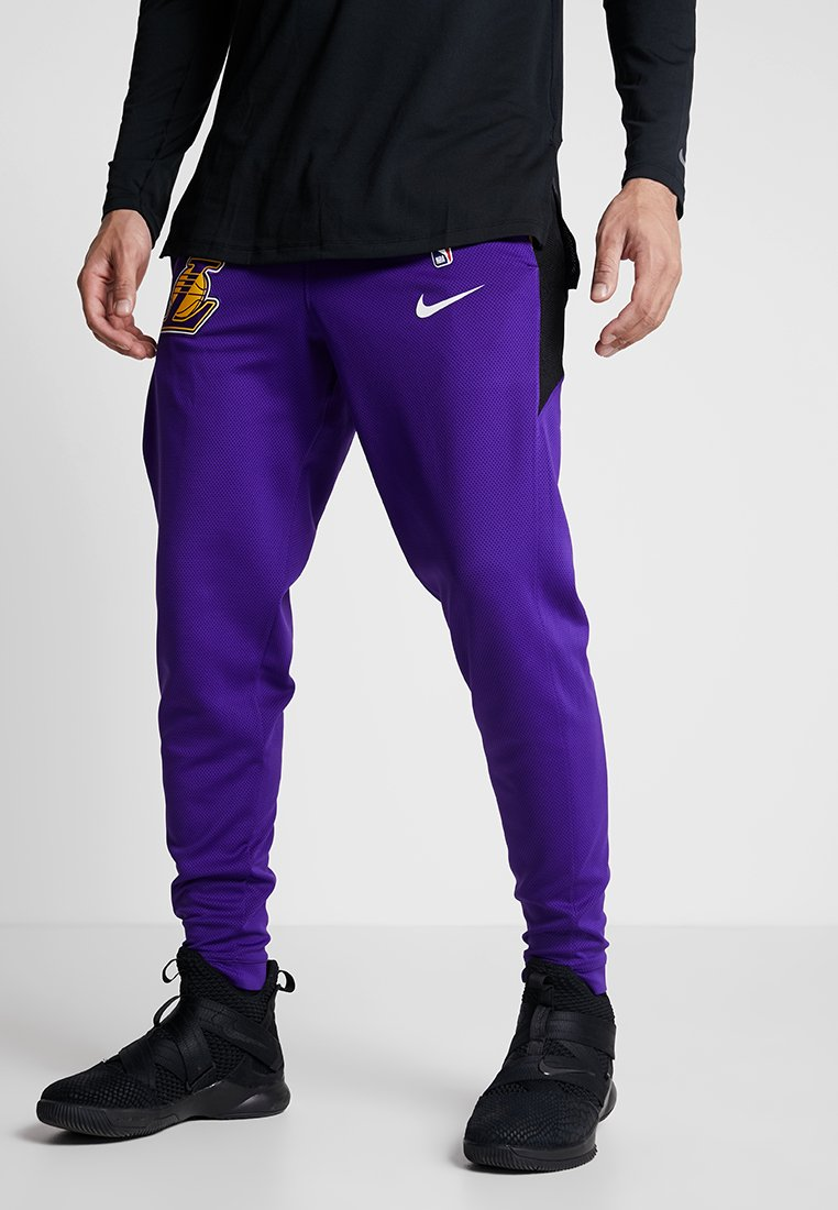 Rectángulo Hazlo pesado demostración  Nike Performance NBA LA LAKERS THERMAFLEX SHOWTIME PANT - Club wear - field  purple/black/white/purple - Zalando.co.uk