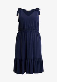 MICHAEL Michael Kors - TIE SHOULDER MIDI - Jersey dress - true navy - 4