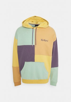 COLOUR PANEL HOODY - Sweatshirt - yellow/orange/purple/mint