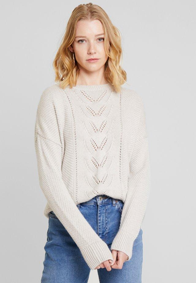 FRIYA - Stickad tröja - whitecap