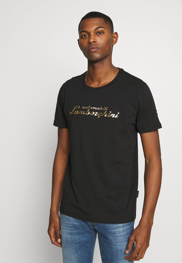 SCRIBBLE LOGO - T-shirt con stampa - black