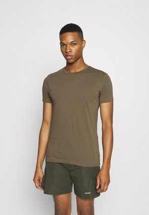 TONIC CREW - T-shirt basic - peppered brown