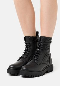 Even&Odd - Lace-up ankle boots - black - 0