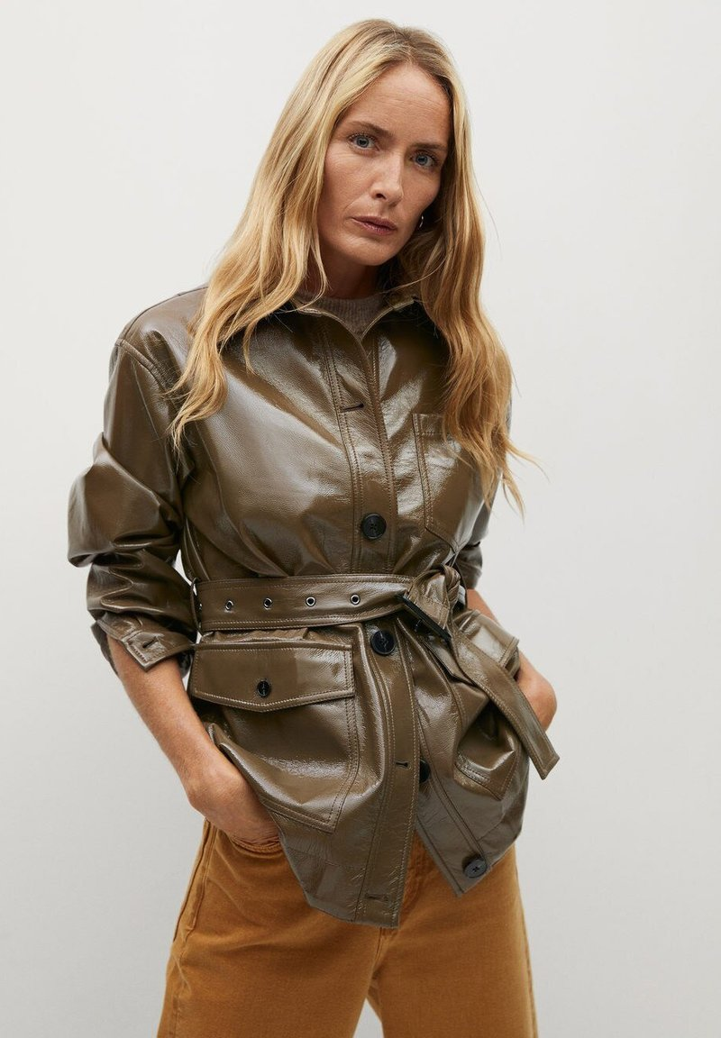 Mango - DORIS - Faux leather jacket - braun
