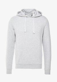 Mikina skapucí - light grey melange