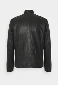 Selected Homme - SLHICONIC RACER - Leather jacket - black - 9