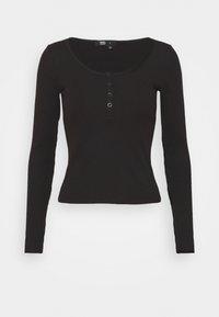 Dr.Denim - TONI LONG SLEEVE - Långärmad tröja - black - 4
