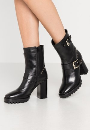 CHANCE - High heeled ankle boots - black