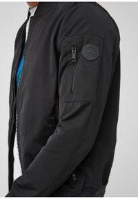 Q/S designed by - MIT RIPP-DETAILS - Bomber Jacket - black - 5