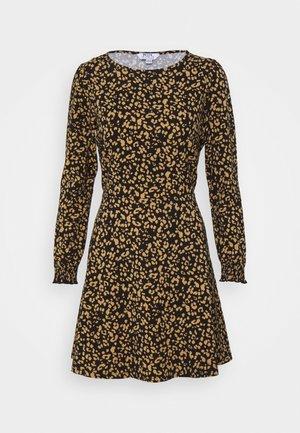PETITESANIMAL FIT & FLARE DRESS - Jersey dress - black