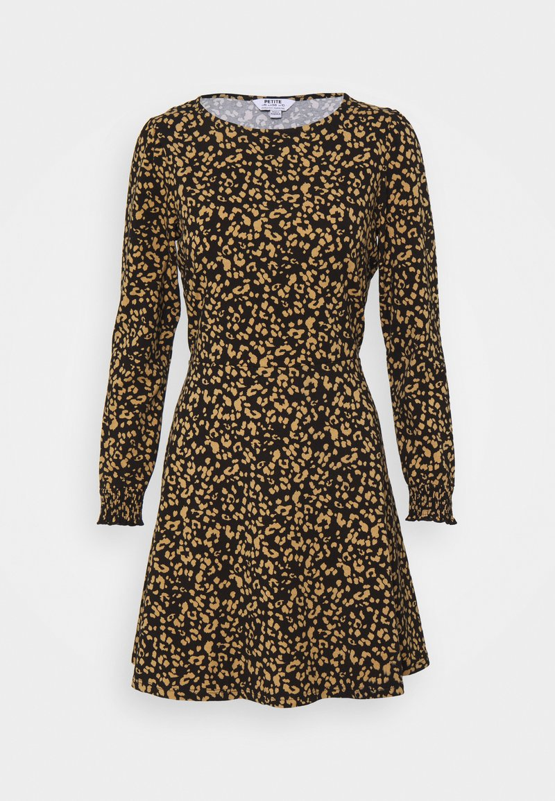Dorothy Perkins Petite - PETITESANIMAL FIT & FLARE DRESS - Jersey dress - black