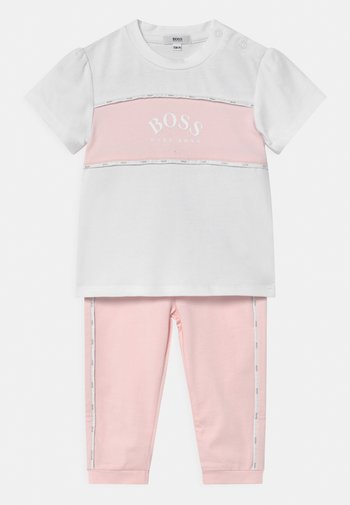 SET - Print T-shirt - white/pink