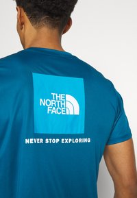 The North Face - REAXION BOX TEE - Print T-shirt - moroccan blue - 4
