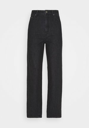 DACY MOM JEANS - Straight leg -farkut - black