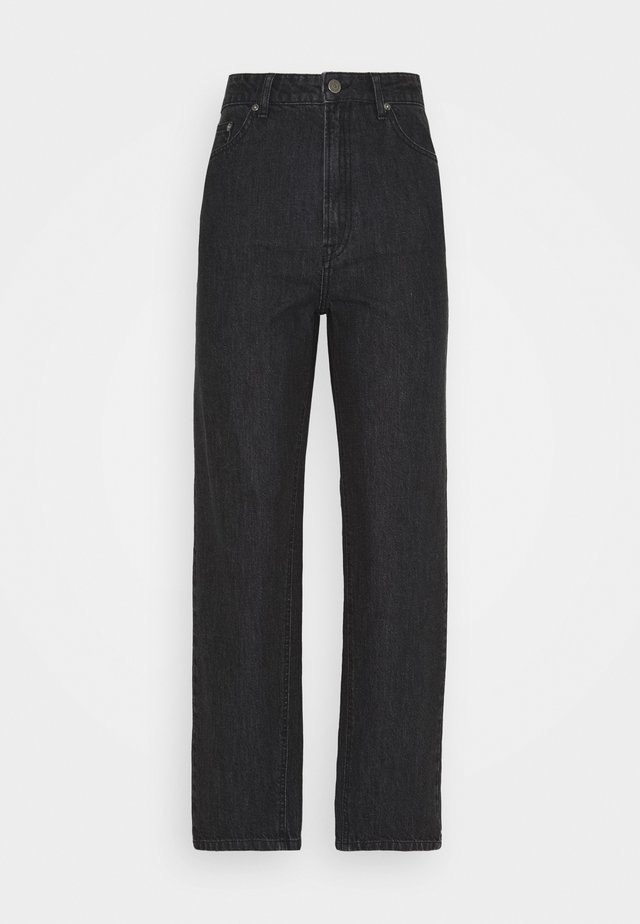 DACY MOM JEANS - Jeans straight leg - black