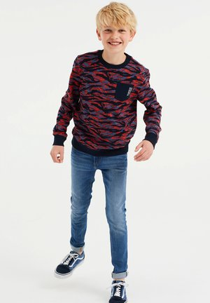Felpa - red, blue, black
