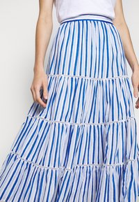 J.CREW - VOILE MIDI - A-line skirt - blue/multi - 4