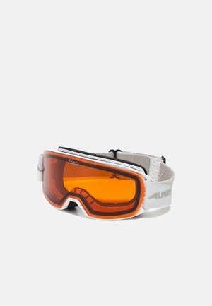 NAKISKA UNISEX - Gogle narciarskie - white/pink matt