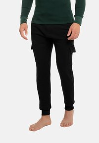 Schiesser Revival - Cargo trousers - schwarz - 0