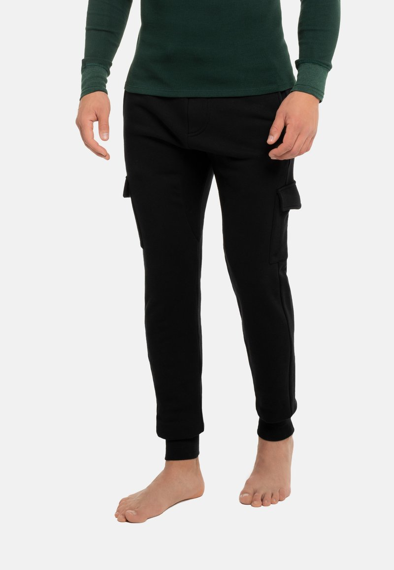Schiesser Revival - Cargo trousers - schwarz