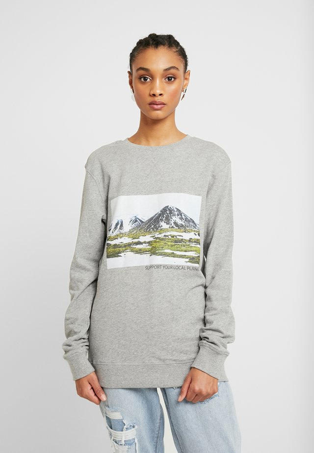 LADIES SUPPORT YOUR LOCAL PLANET CREWNECK - Felpa - heathergrey