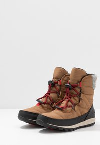 Sorel - YOUTH WHITNEY SHORT LACE - Vinterstøvler - camel - 3
