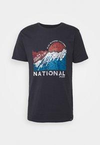 Print T-shirt - dark navy
