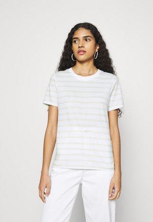 Print T-shirt - white/light green