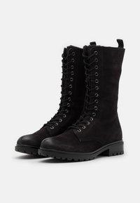 Anna Field - LEATHER - Platform boots - black - 1