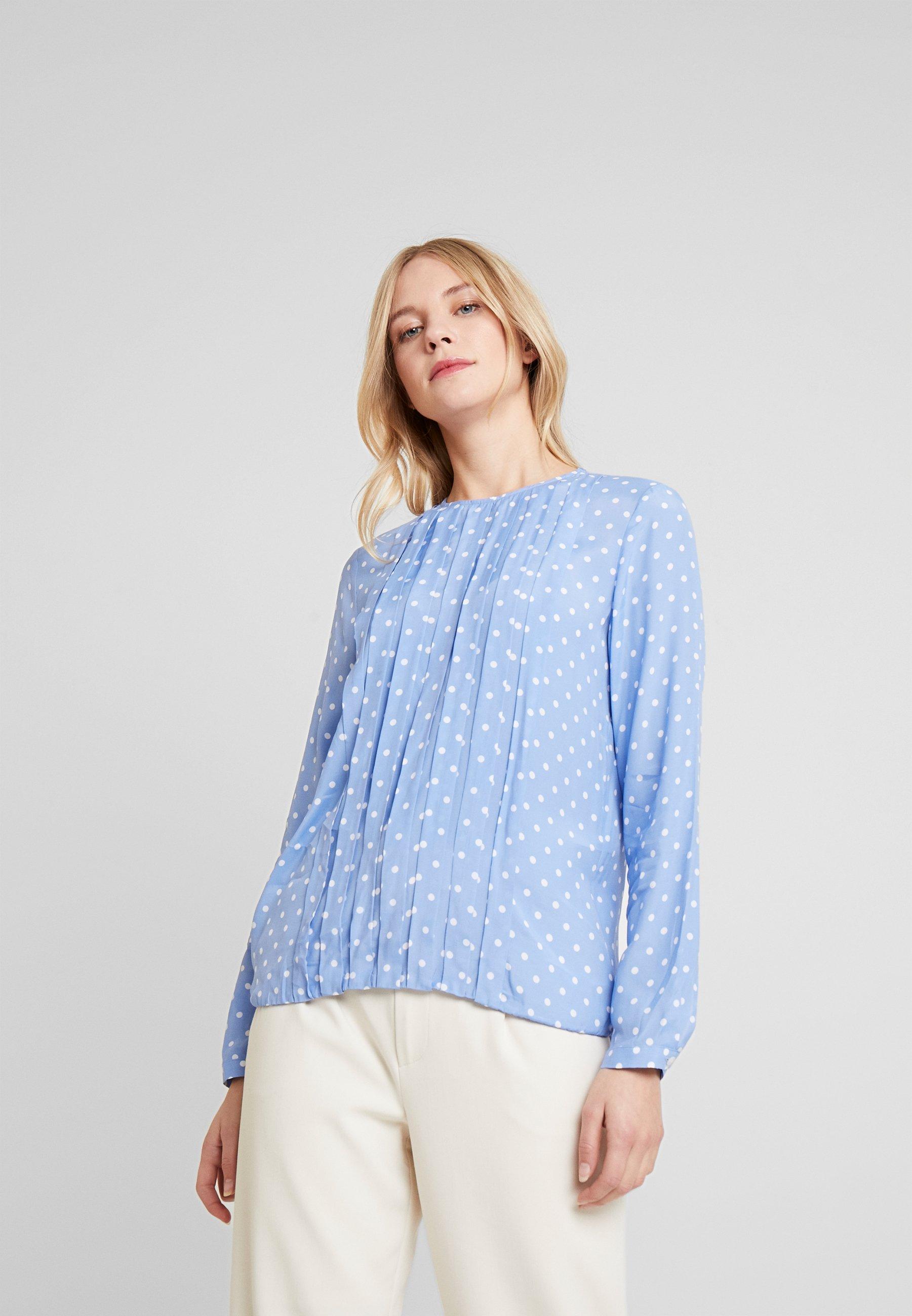 Seidensticker HEMDBLUSE LANGARM - Skjorte - weiß/blau