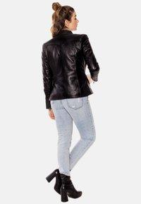LEATHER HYPE - ARYAN - Leather jacket - black - 2