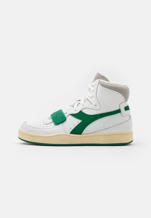 MI BASKET USED UNISEX - Korkeavartiset tennarit - white/verdant green