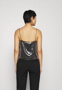 Calvin Klein Jeans - SEQUIN LOGO STRAP  - Linne - black - 2