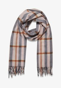 Part Two - ECITANAPW - Scarf - big check, silver pink - 2