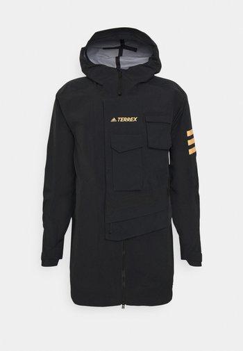XPLORIC RAIN JACKET - Hardshell jacket - black/black