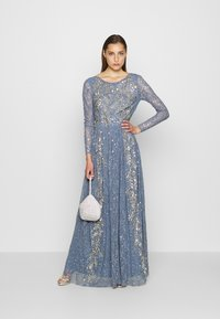 Maya Deluxe - MAXI DRESS WITH SCOOP BACK AND EMBELLISHMENT - Galajurk - dusty blue