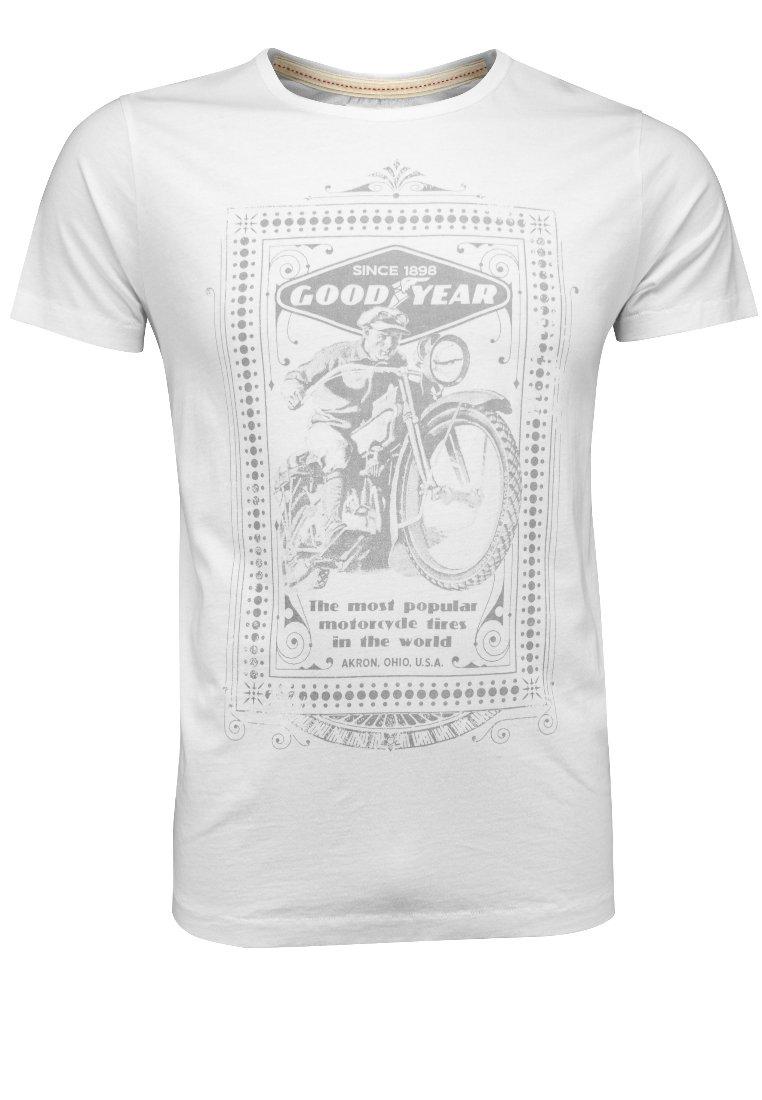 Goodyear - Print T-shirt - weiß