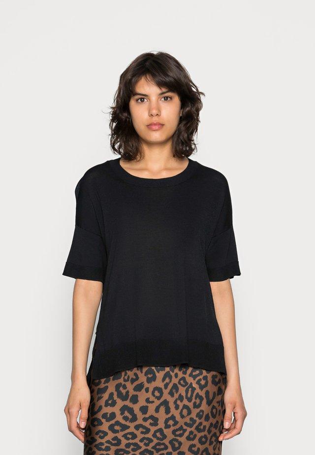 SLFWILLE O NECK - T-shirts print - black