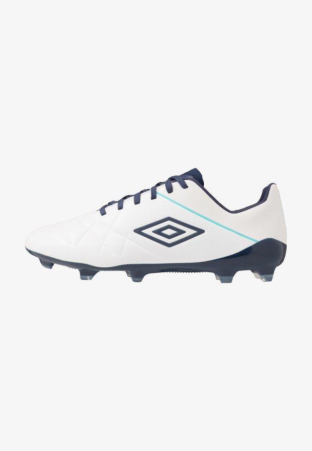 MEDUSÆ III PRO FG - Moulded stud football boots - white/medieval blue/blue radiance
