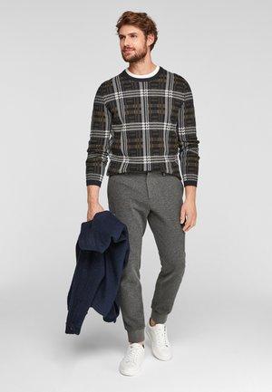 Cargo trousers - dark grey melange