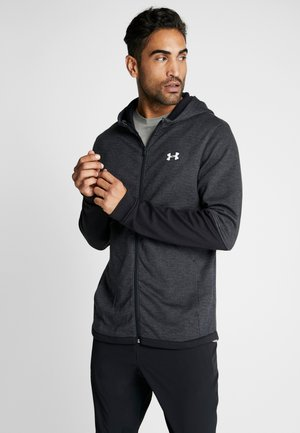 DOUBLE KNIT  - Zip-up hoodie - black/onyx white