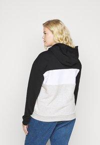 Fila Plus - LORI HOODY - Hoodie - black/light grey melange/bright white - 2