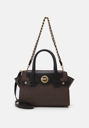 CARMENSM FLAP SATCHEL - Handtasche - brown/black