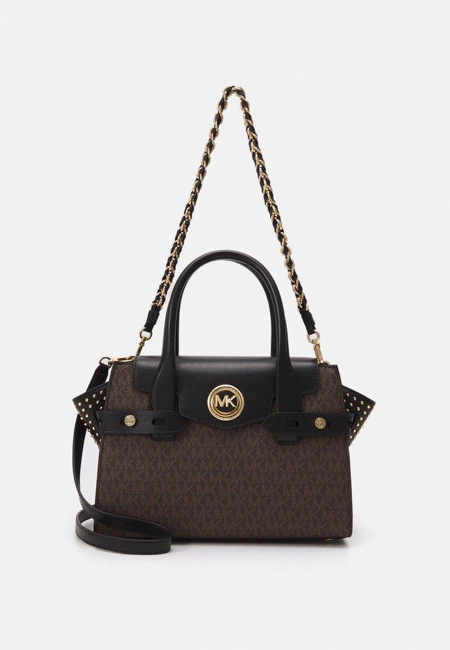 CARMENSM FLAP SATCHEL - Handbag - brown/black