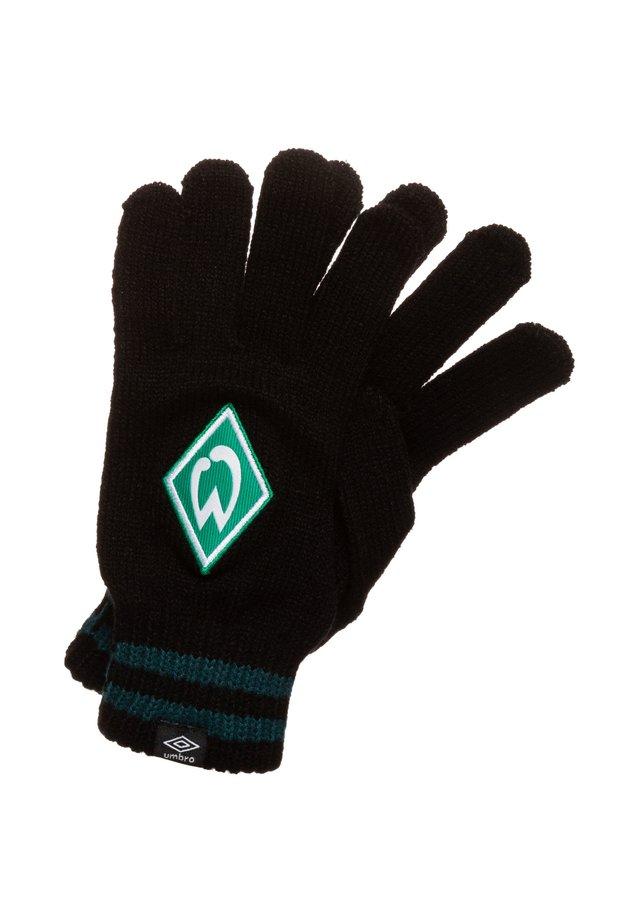 SV WERDER BREMEN STRIPED CUFF HANDSCHUH - Gloves - black / june bug