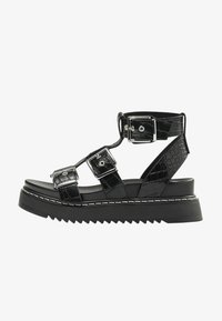 Bershka - Platform sandals - black - 1